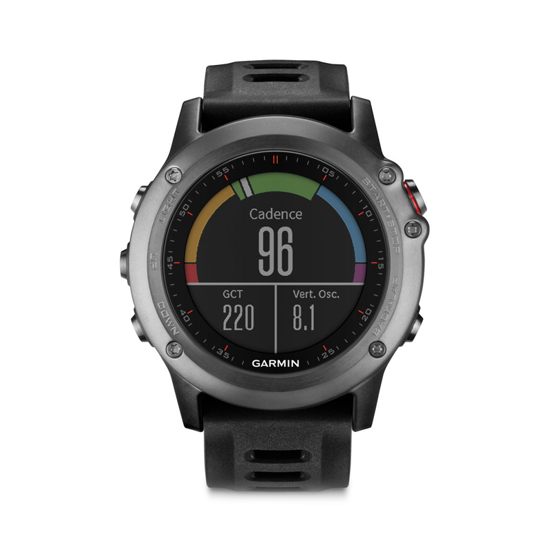 Garmin Fenix 3 GPS Watch with Heart Rate Monitor Gray Black Band in Dubai