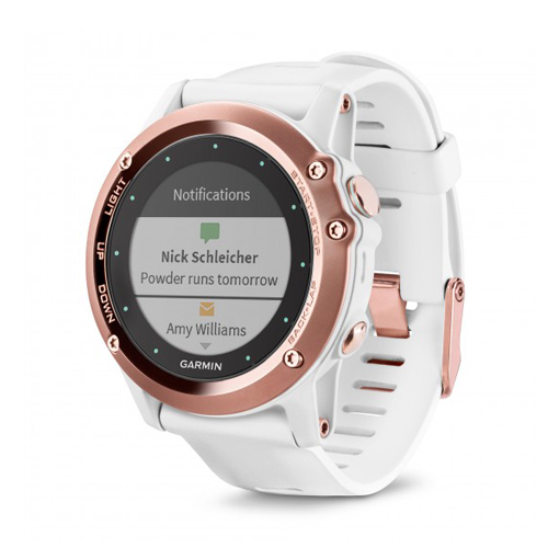 Garmin Fenix 3 Sapphire Rose Gold Tone with White Band Price Dubai