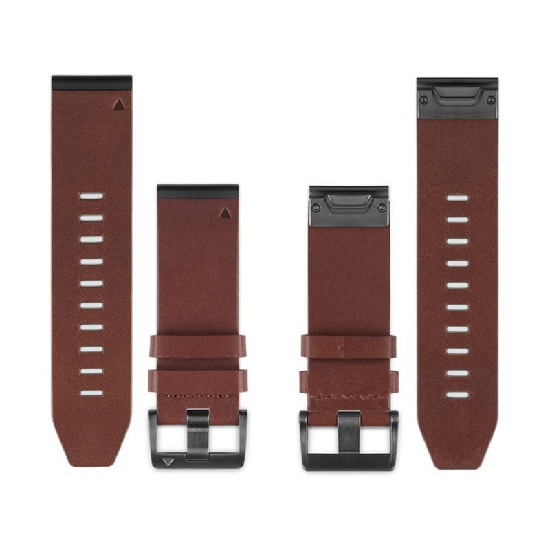 Buy Garmin Fenix 5x Quickfit 26mm Brown Leather Watch