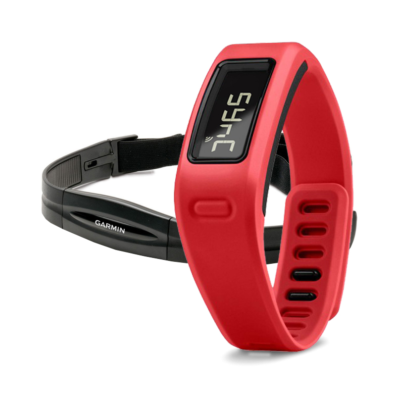 Garmin Vivofit Fitness Band Red Bundle With Heart Rate Monitor in Dubai