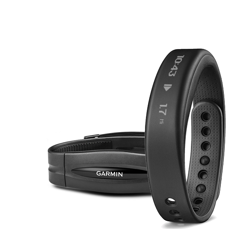 Garmin Vivosmart Fitness Band Black Small Bundle With Heart Rate Monitor Price in Dubai