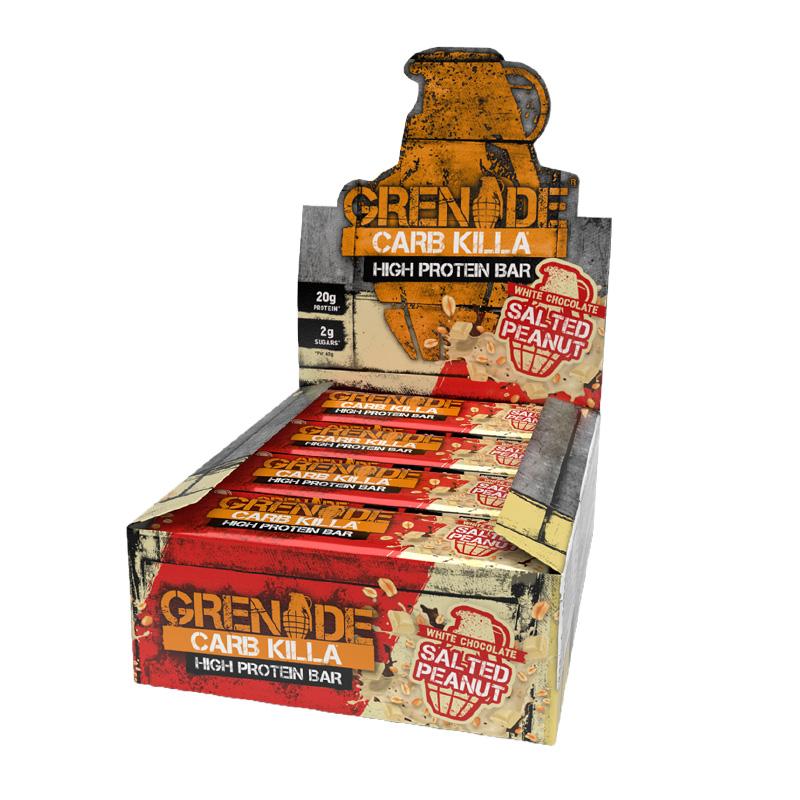 Grenade Carb Killa Box 1x12 Protein Bars Salted Peanuts