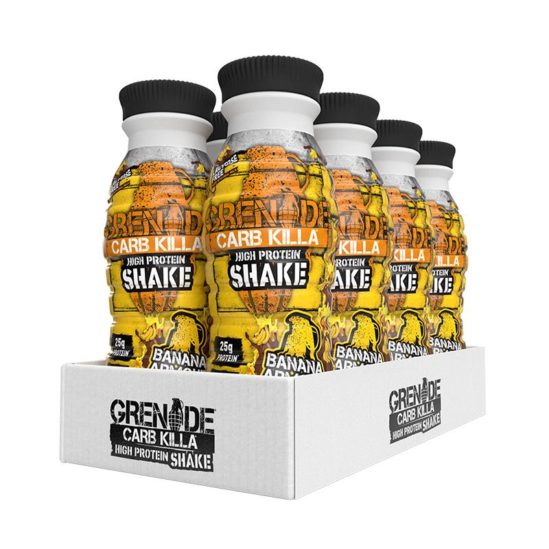 Grenade Carb Killa Shake 1 Box of 8 Bottles Banana Armour
