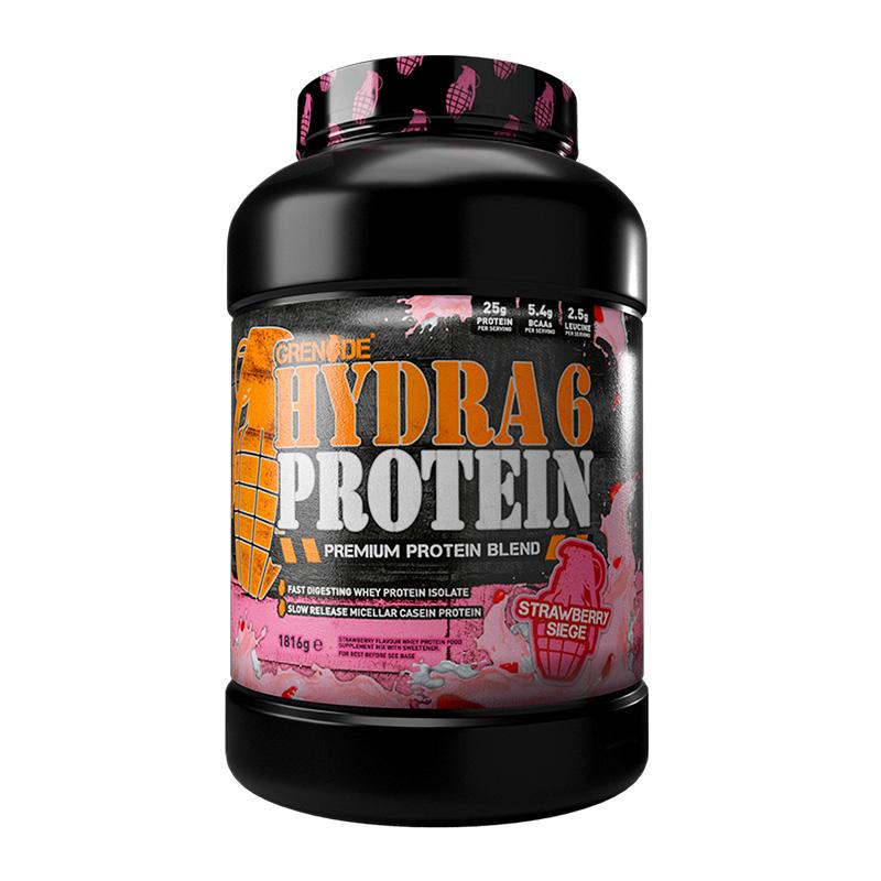 Grenade Hydra 6 Protein Powder 1.8 kg G Strawberry Siege