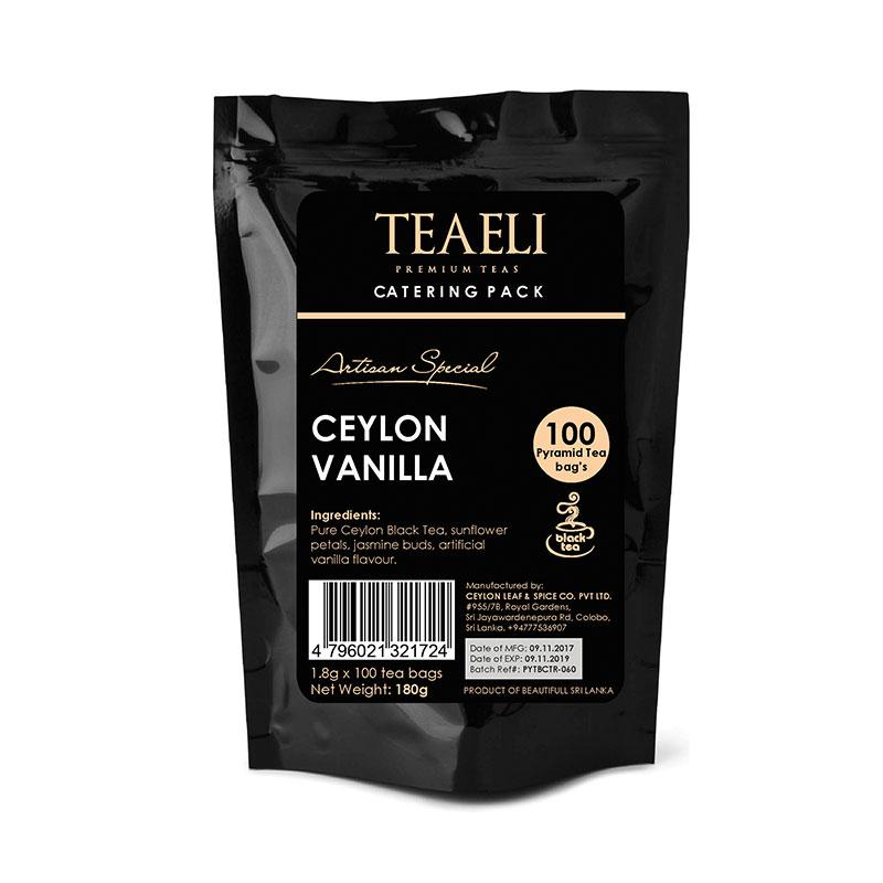 Teaeli Tea 100 Pyramid Flavored Tea Bag Catering Pack