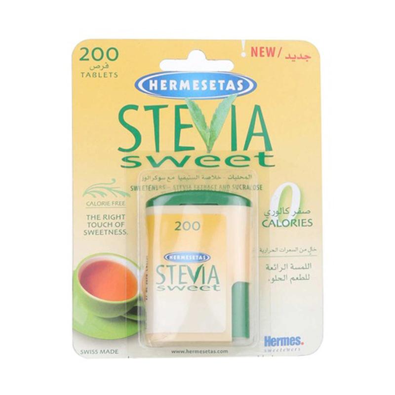 Hermesetas Stevia Sweet 200 Tabs Calories Free Sweetener