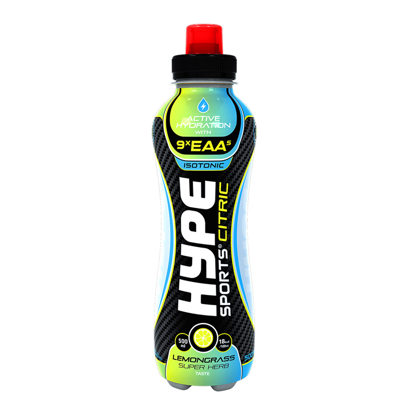 Hype Energy Sport Drink Citric Lemon Grass Super Herb 500mg x 12 Pcs