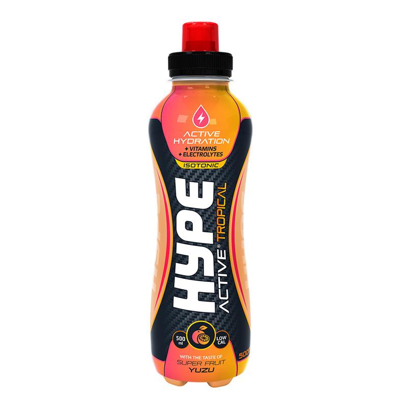 Hype Energy Sport Drink Tropical Yuzu Super Fruit 500mg x 12 Pcs