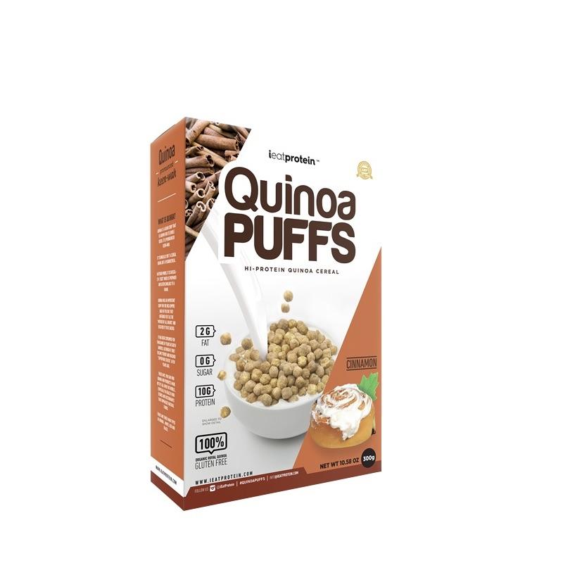 ieatprotein Quinoa Puffs 300g Cinnamon