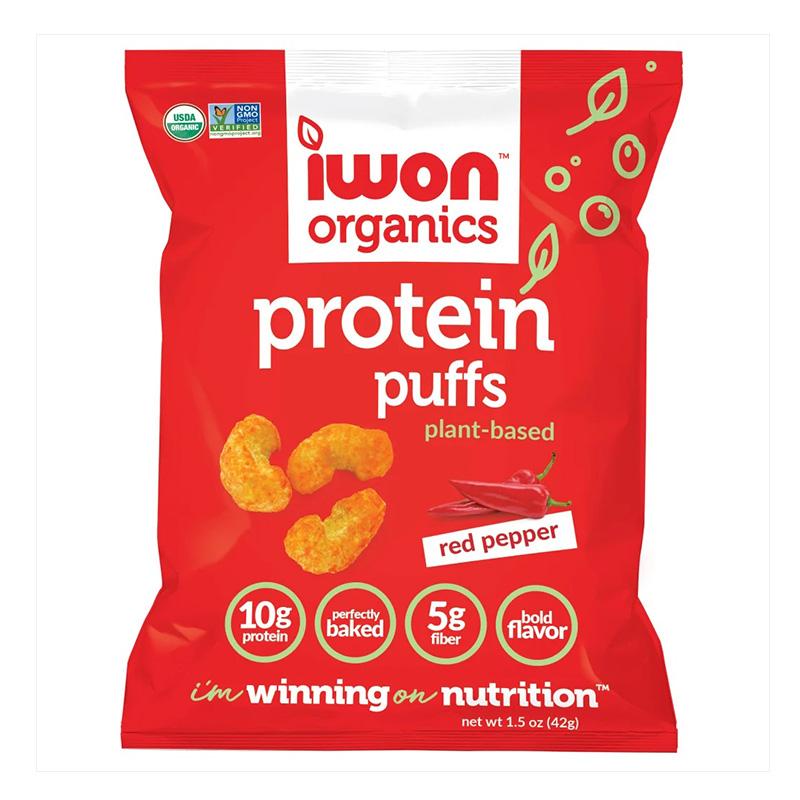 IWON Organics Protein Puff Red Pepper 42 g