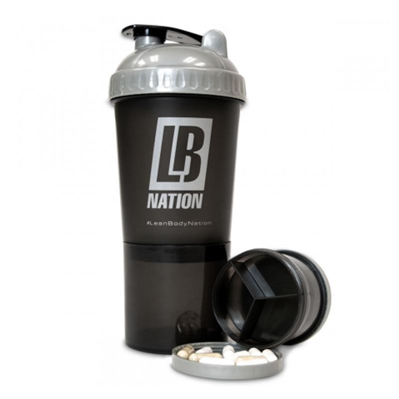 Labrada Shaker Bottle WHT/LID ( Red 3 in 1 )
