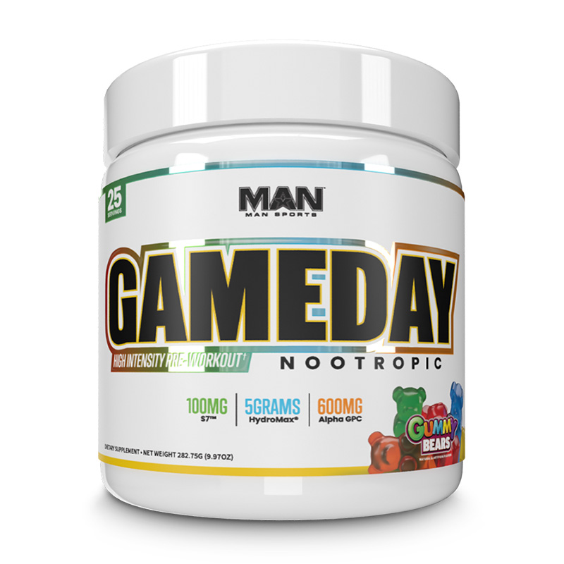 Man Sports Game Day Nootropic 25 Servings Gummy Bears