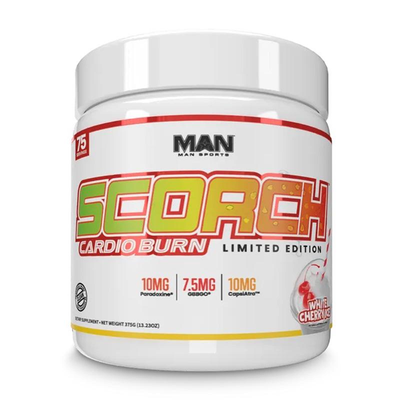 Man Sports Scorch Cardio Burn White Cherryrice 75 Servings