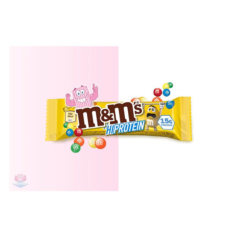 M&M Peanut Hi Protein Bar 15 g 1x12 Bars