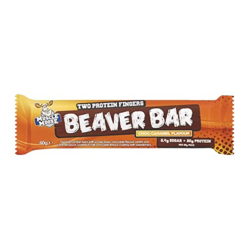Muscle Moose Protein Beaver Bar Dark Chocolate 20g 1x12 Bars