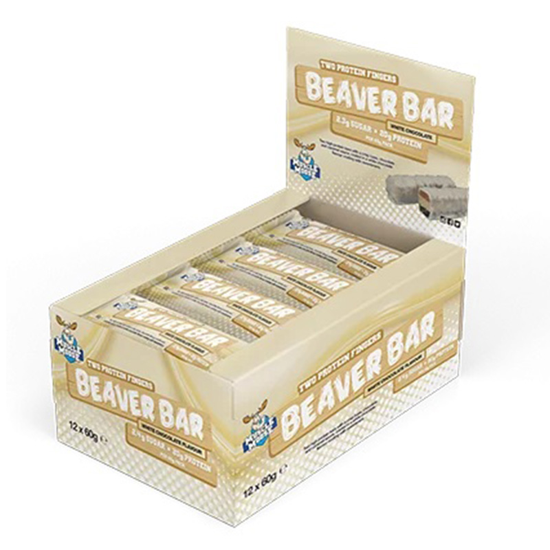 Muscle Moose Protein Beaver Bar White Chocolate 20g 1x12 Bars