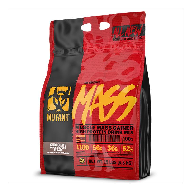 Mutant Muscle Mass Gainer Chocolate Fudge Brownie 15lbs