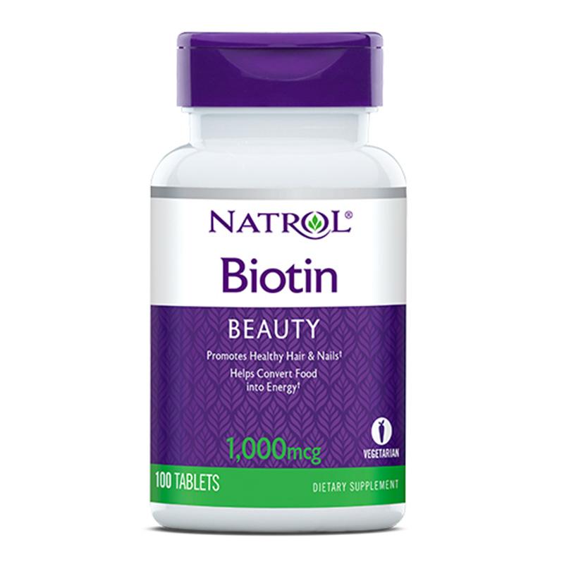 Natrol Biotin 1000 Mcg 100 Tabs (Hair, Skin and Nail)