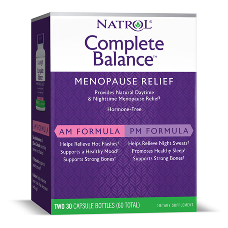 Natrol Complete Balance Menopause am & pm Formula 30 Caps Each Kit