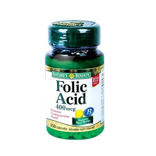 Buy Natures Bounty Folic Acid 400 MCG (250 Tabs) in Dubai