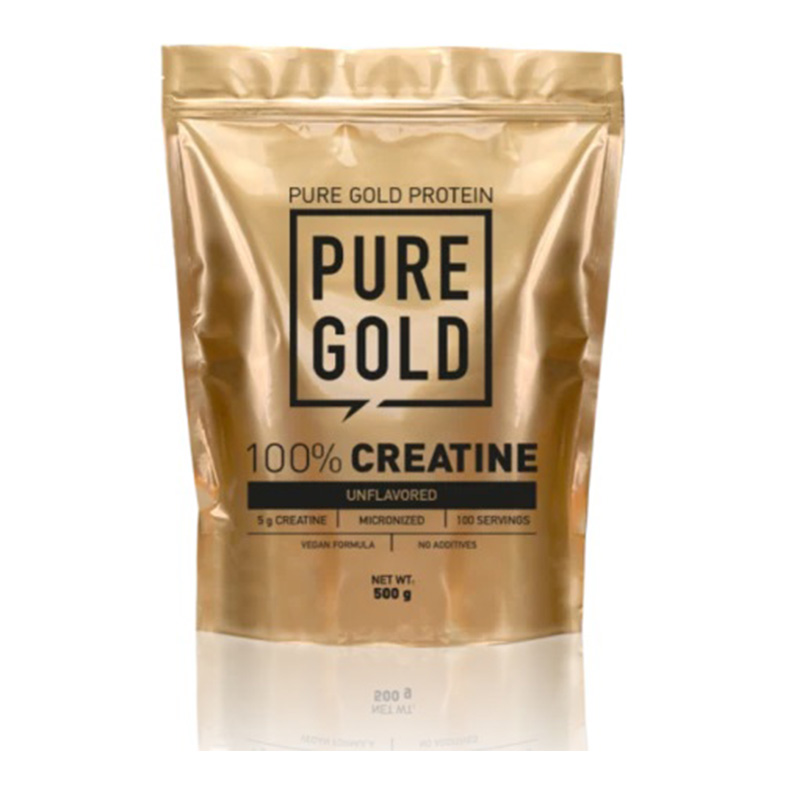 Pure Gold 100% Creatine 500 gm Unflavored