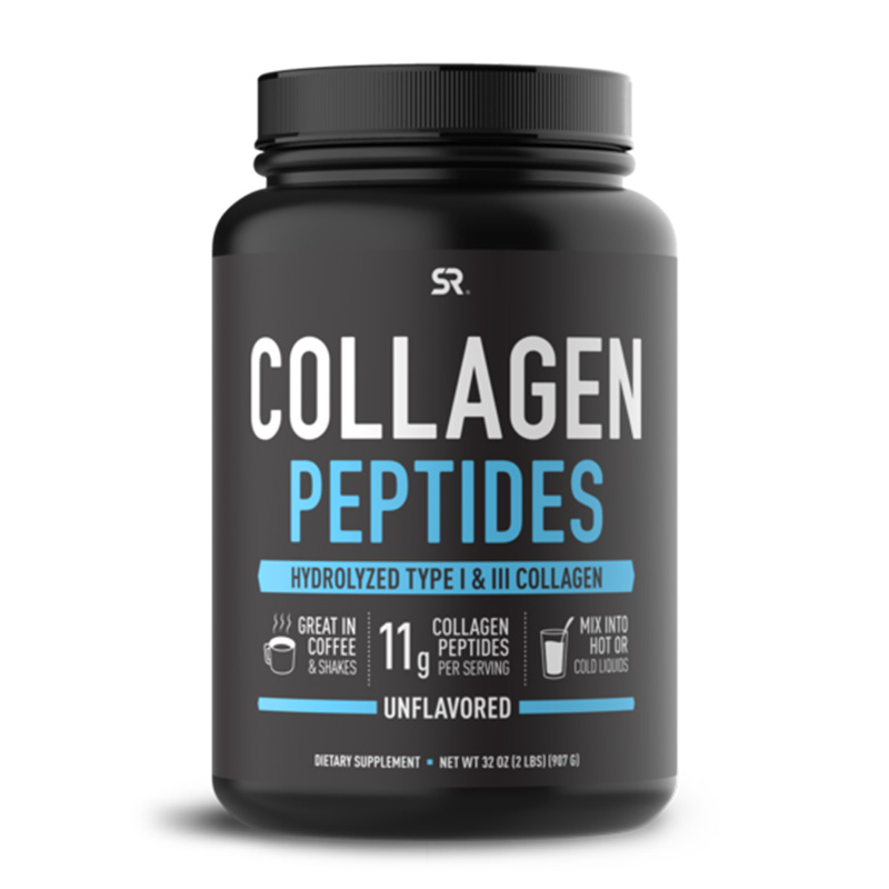 Sports Research Collogen Peptides Type I & III Unflavoured 1LB 40 Servings