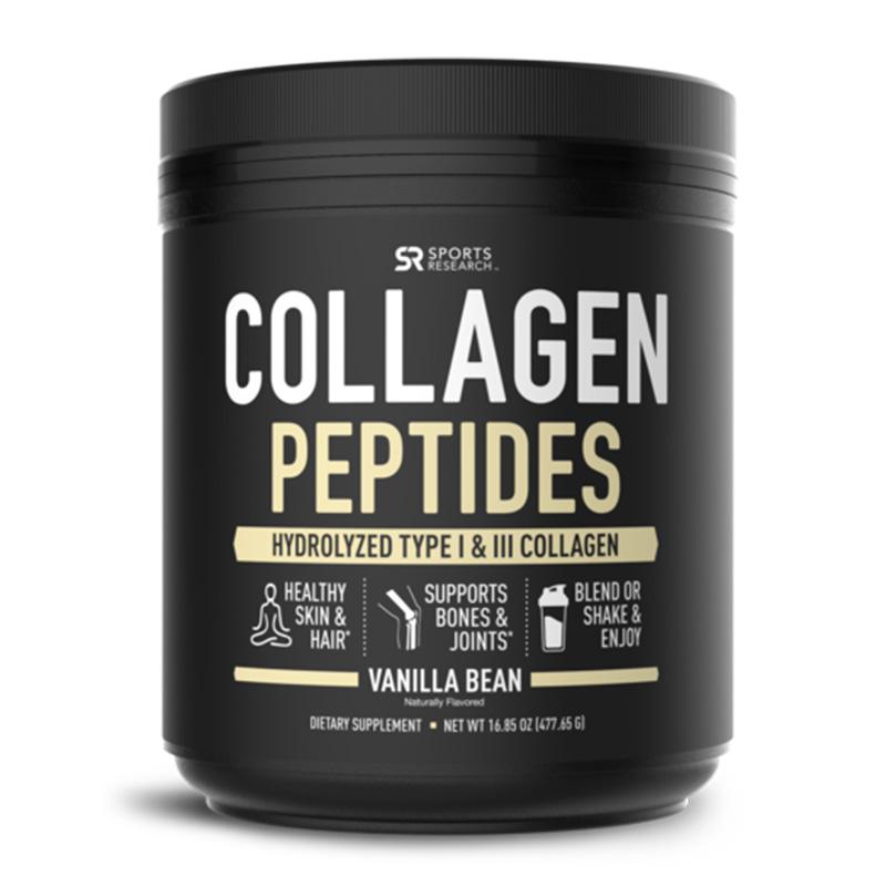 Sports Research Collagen Peptides Vanilla Bean 41 serving