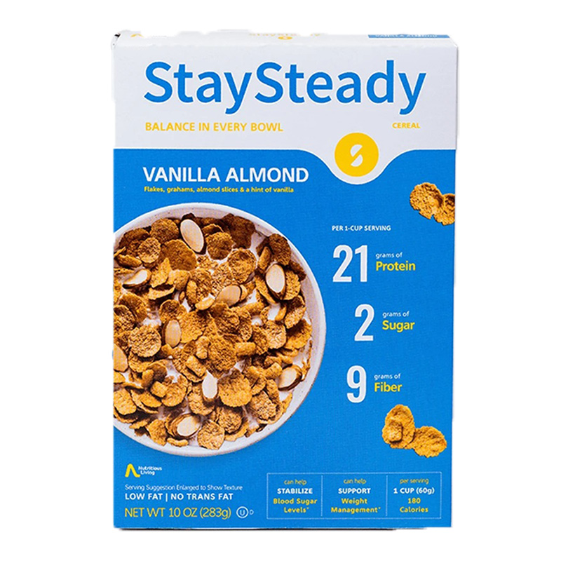 Stay Steady Cereal Vanilla Almond 1x6