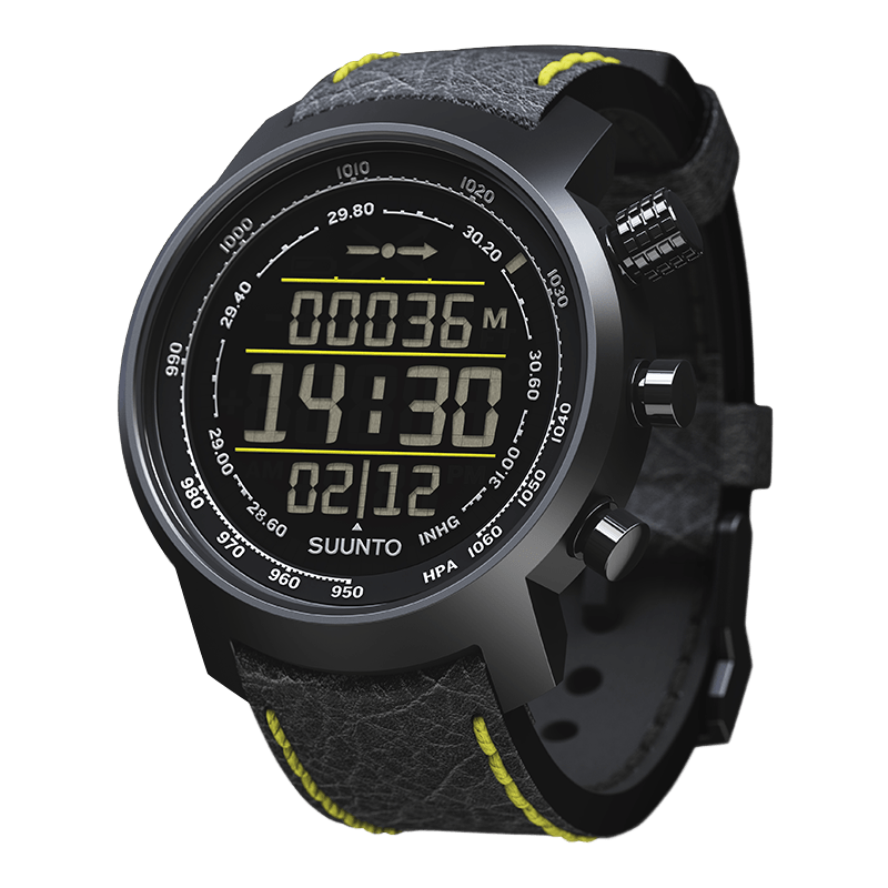 Suunto Elementum Terra n/ Black/ Yellow Leather Watch Price Distributor Dubai