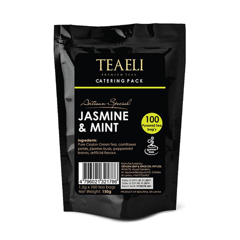 Teaeli Tea 100 Pyramid Flavored Tea-Bag Catering Pack