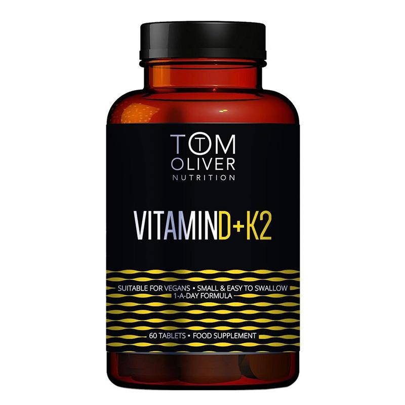 Tom Oliver Nutrition Vitamin D K2 60 Tablets