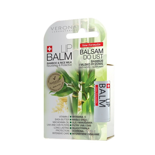 Verona Natural Essence Lip Balm Bamboo and Rice Milk Price Dubai
