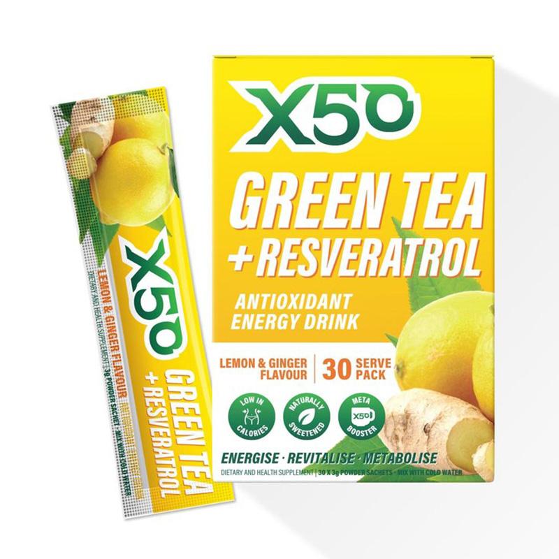 X50 Green Tea Lemon and Ginger 30 Serving