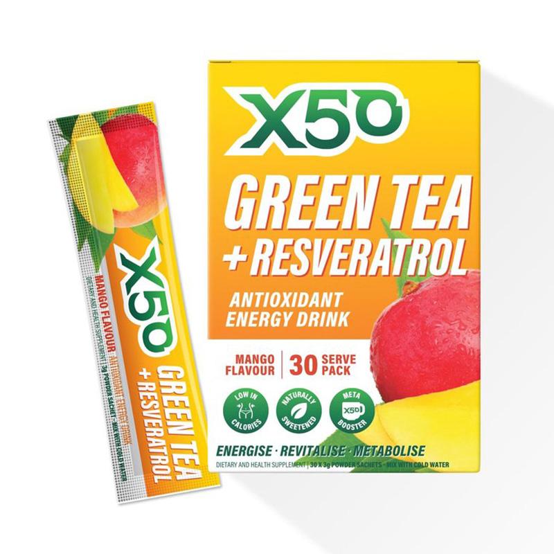 X50 Green Tea Mango 30 Serving