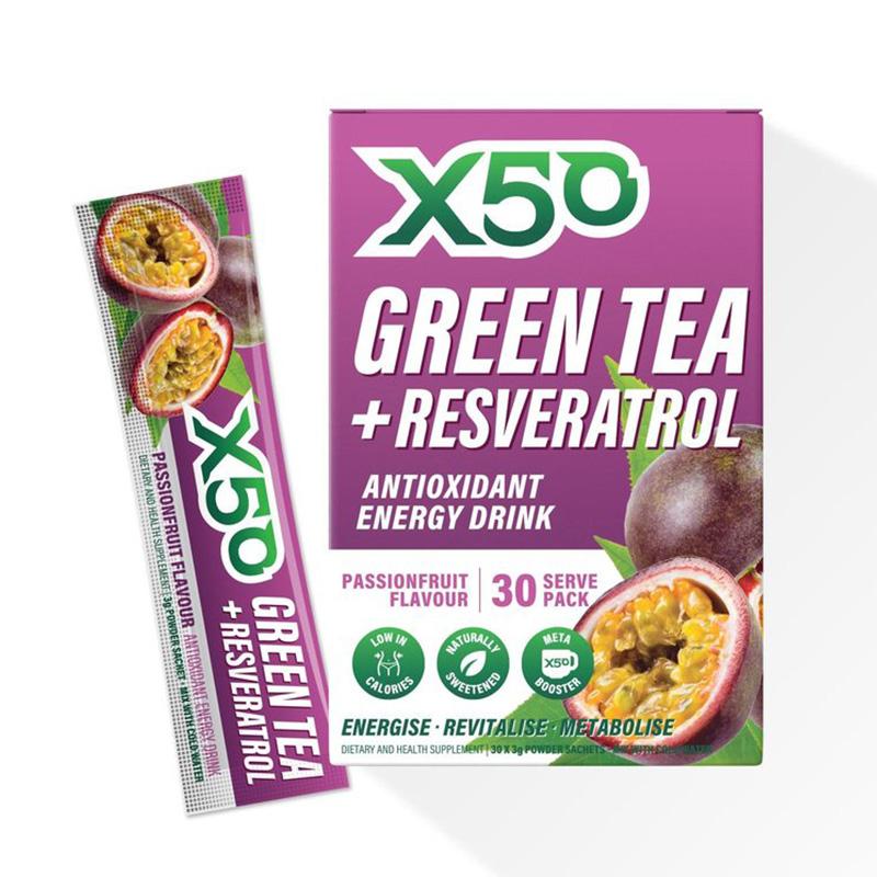 X50 Green Tea Passion Fruit 30 Serving