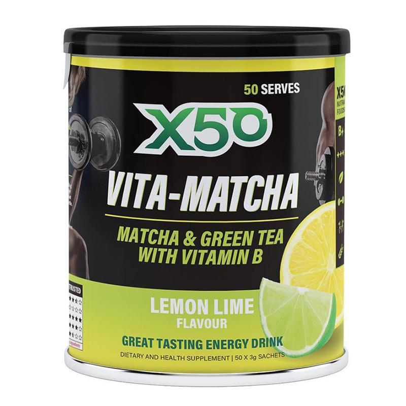 X50 Lemon Lime Vita - Matcha Energy Drink