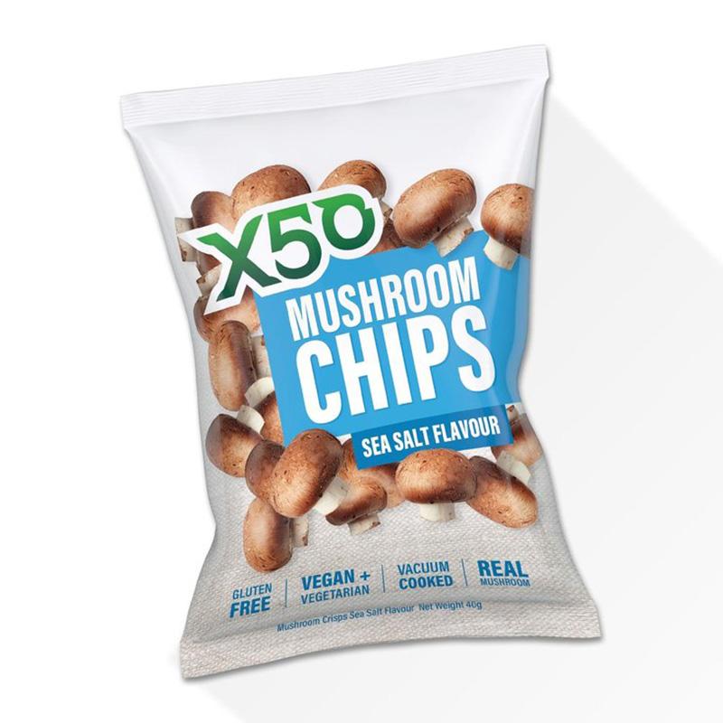 X50 Mushroom Chips Sea Salt 40g